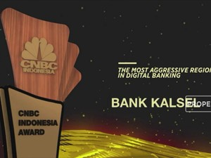 Bank Kalsel Raih The Most Aggressive Bank In Digital Banking
