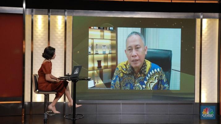 Direktur Kepatuhan dan Manajemen Risiko Bank Jateng, Ony Suharsono (CNBC Indonesia/ Tri Susilo)