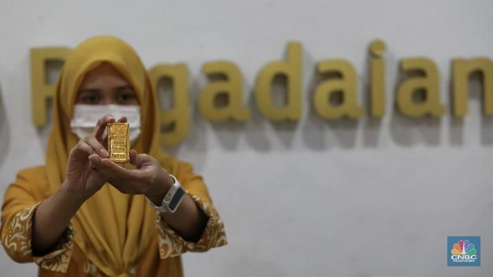 Ilustrasi Emas Pegadaian. (CNBC Indonesia/Andrean Kristianto)