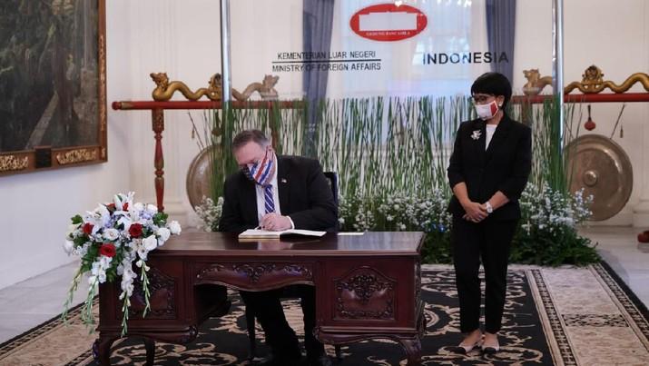 Menteri Luar Negeri Amerika Serikat Mike Pompeo bertemu Menteri Luar Negeri RI Retno Marsudi. (Dok. Kemenlu)