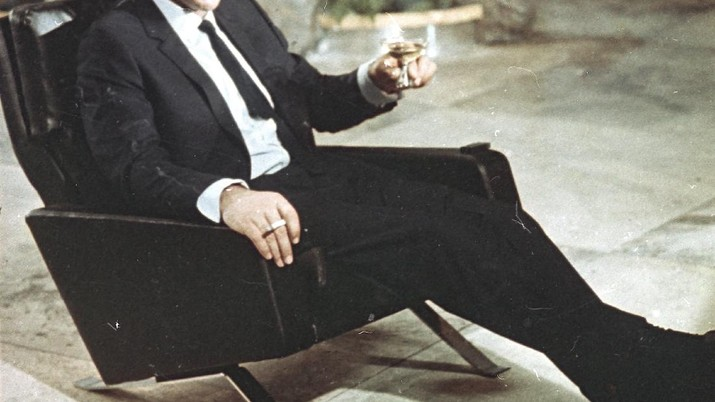 FILE - In this file photo dated July 29, 1966, actor Sean Connery is shown during filming the James Bond movie