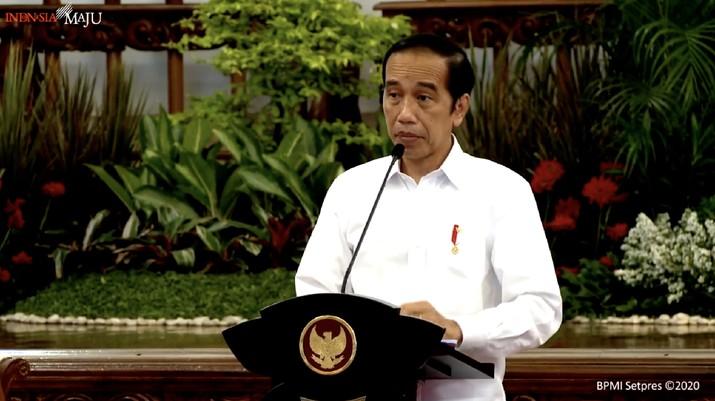 Arahan Presiden Jokowi pada Sidang Kabinet Paripurna, Istana Negara, 2 November 2020. (Tangkapan Layar Youtube)