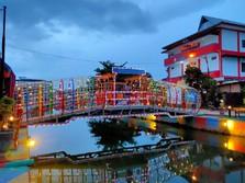 Wajah Baru Sungai Bendung Palembang yang Sudah Bebas Sampah