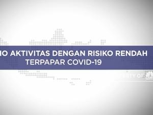 Ini Lho Aktivitas Dengan Risiko Rendah Terpapar Covid-19