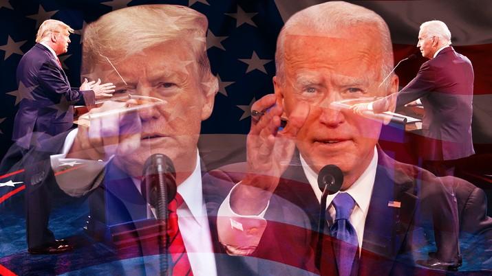 Donald Tump & Joe Biden, Debat Pilpres AS / Aristya Rahadian