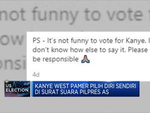 Kanye West Pamer Vote Diri Sendiri di Surat Suara Pilpres AS