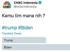 Donald Trump VS Joe Biden, Netizen RI Pilih yang Mana?