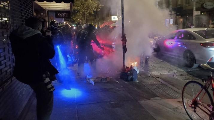 Demo Pilpres AS di New York (Kepolisian New York)