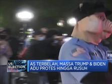 AS Terbelah, Massa Trump & Biden Adu Protes Hingga Rusuh
