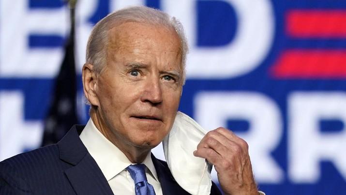 Joe Biden berpidato didepan publik. (AP/Carolyn Kaster)