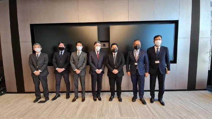 Menteri Badan Usaha Milik Negara (BUMN), Erick Thohir melakukan penjajakan kerjasama dengan pemerintah Jepang. Salah satu penjajakan ini terkait teknologi PCR Jepang yang bakal dibawa pulang ke Indonesia. Ist
