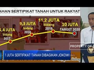1 Juta Sertifikat Tanah Dibagikan Jokowi
