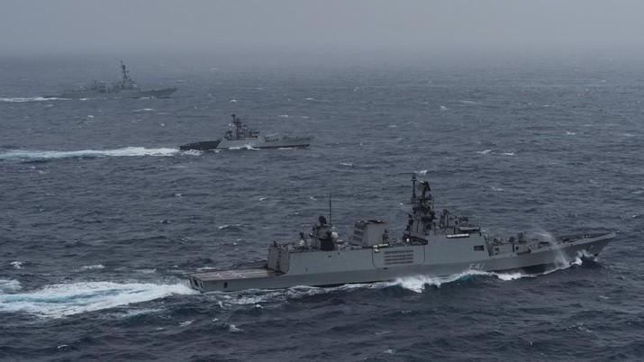 India menjamu Jepang, Australia, AS dalam latihan angkatan laut #Malabar 2020. (Tangkapan Layar Twitter @USPacificFleet)
