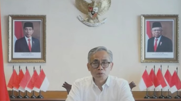 Ketua Dewan Komisioner Otoritas Jasa Keuangan (OJK) Wimboh Santoso dalam acara Pekan Fintech Nasional 2020 (Tangkapan Layar Youtube Bank Indonesia)