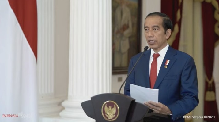 Presiden Joko Widodo saat Opening Ceremony Pekan Fintech Nasional 2020 (tangkapan Layar Youtube Bank Indonesia)