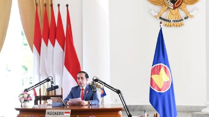 Presiden Jokowi Hadiri KTT ke-37 ASEAN, Istana Kepresidenan Bogor, 12 November 2020. (Biro Pers Sekretariat Presiden/ Lukas)