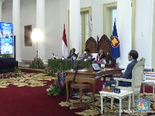 Jokowi Pamer Resep RI Lalui Pandemi Corona di KTT ASEAN-China
