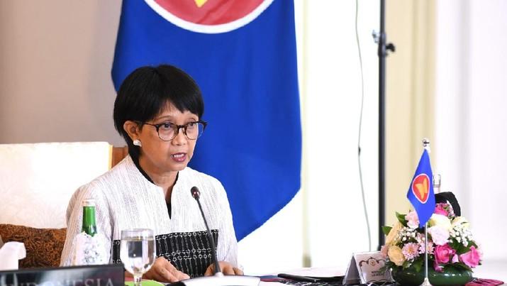 Keterangan Menteri Luar Negeri, Retno Marsudi di Istana Kepresidenan Bogor, 14 November 2020. (Foto: Muchlis Jr - Biro Pers Sekretariat Presiden)