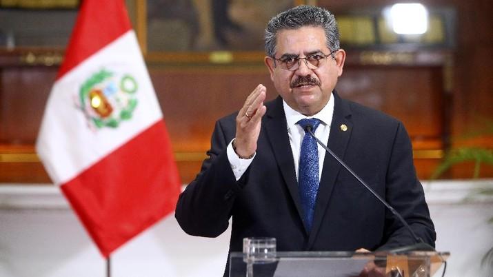 Manuel Merino. (AP/Luis Iparraguirre)