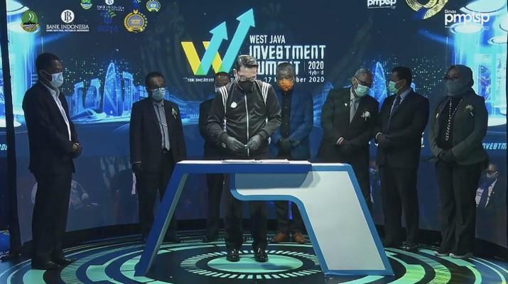 MOU West Java Investment Summit 2020. (Tangkapan Layar bi_jabar)