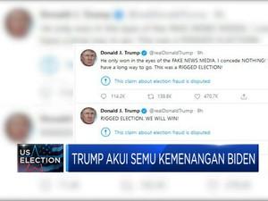 Trump Akui Semu Kemenangan Biden