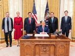Momen Luhut Pandjaitan Sowan Donald Trump di White House