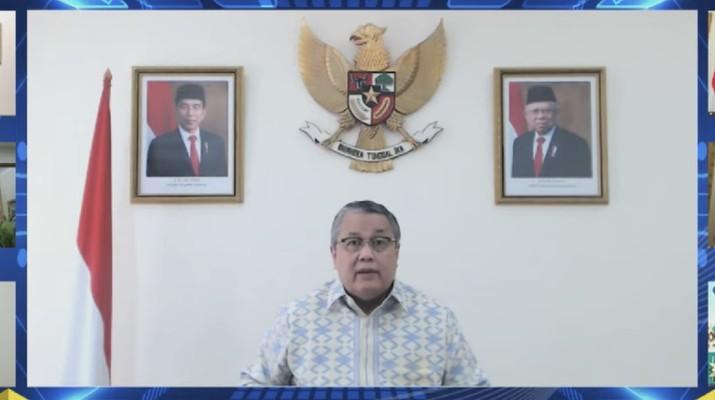 Live Streaming Pembacaan Hasil Rapat Dewan Gubernur Bulanan BI November 2020 Cakupan Triwulanan. (Tangkapan layar youtube BI)