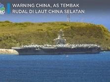 Warning China, AS Tembak Rudal di Laut China Selatan