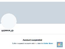Akun Twitter FPI @DPPFPI_ID Disuspen Twitter