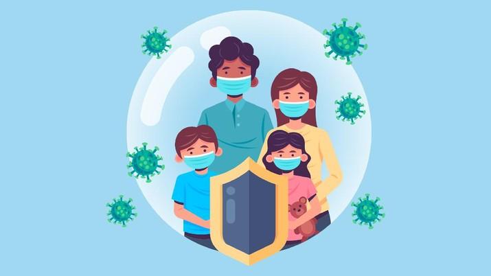 Infografis/ Suntik vaksin  untuk kekebalan  dari covid-19