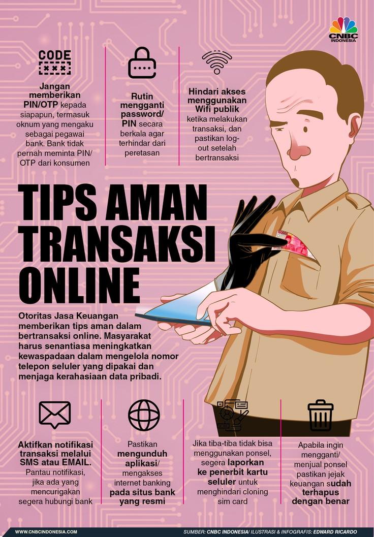 INFOGRAFIS, Tips Aman Bertransaksi Online