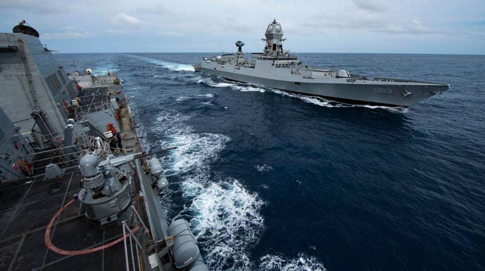 Kapal perang AS di laut Asia Pasifik. (Dok: Twetter U.S. Navy)