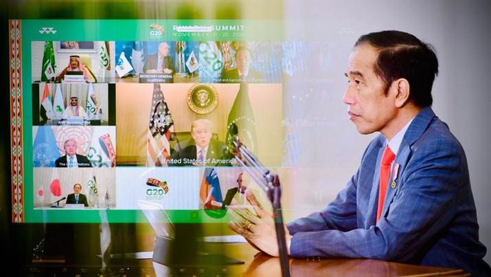 Jokowi dalam KTT G-20 21 November 2020/Biro Setpres