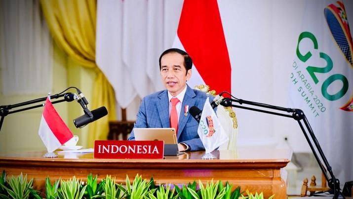 Jokowi di KTT G20, 21 November 2020/Biro Setpres