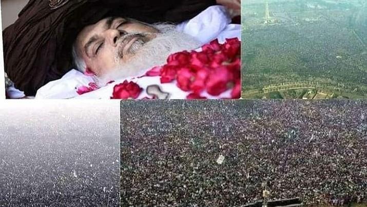 Pemakaman pemimpin Partai Politik Tehreek-i-Labbaik Pakistan (TLP), Khadim Hussain Rizvi/Dok The News.pk
