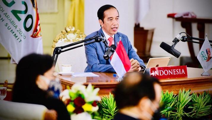 Presiden Jokowi dorong akses vaksin Covid-19 dibuka bagi semua negara. (Foto: Lukas - Biro Pers Sekretariat Presiden)