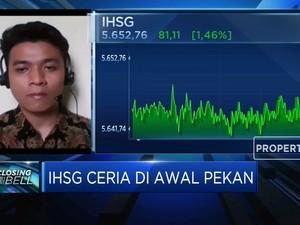Ditutup Menguat 1,36%, IHSG Ceria Diawal Pekan