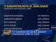 Ini 17 Daerah di Jawa Barat yang Naikkan UMK di 2021