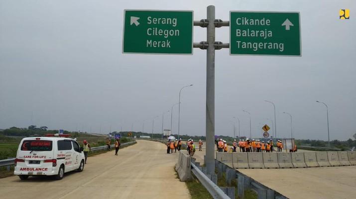 Jalan Tol Serang-Panimbang (Dok. Biro Komunikasi Publik Kementerian PUPR)