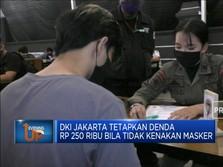 Denda Akibat Tak Pakai Masker Di Jakarta Capai Rp 5 Miliar