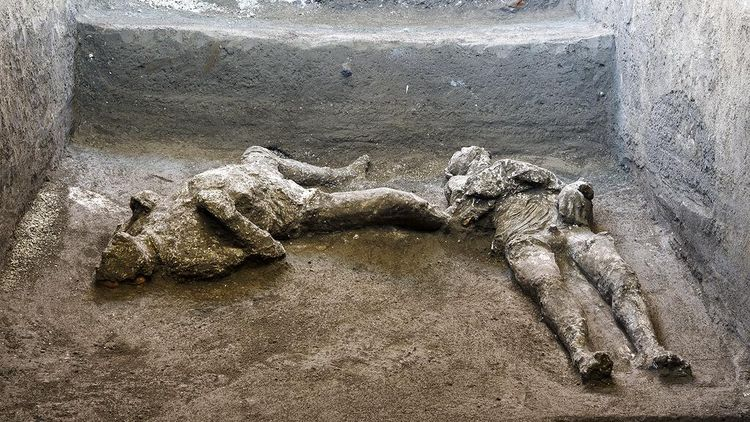 Penampakan Jasad Korban Letusan Gunung Dua Ribu Tahun Lalu di Italia