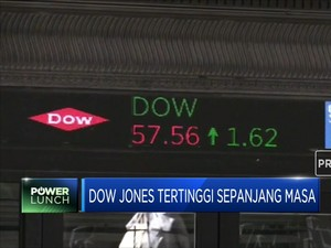 Indeks Dow Jones Tertinggi Sepanjang Masa, Trump Happy!