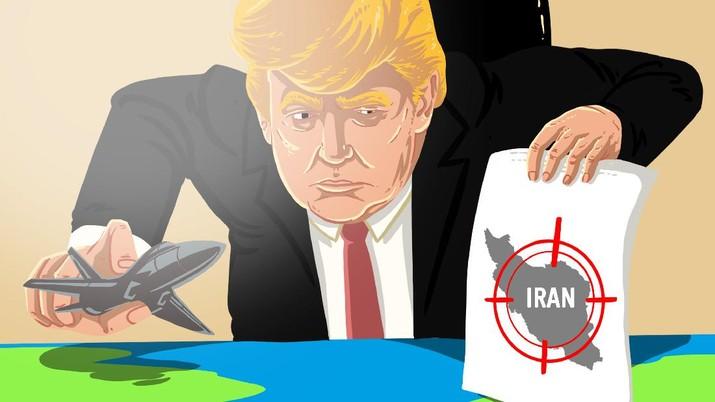 Infografis/ Waspada Perang dunia 3, Trump Kirim  Bomber Nuklir  ke Iran/Aristya Rahadian