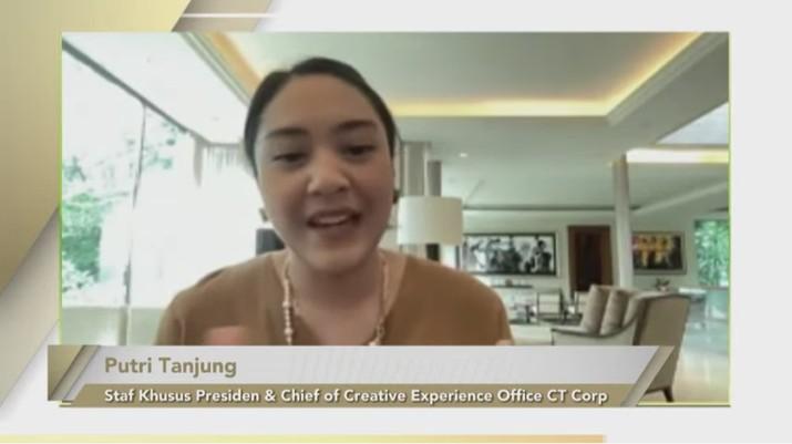 Putri Tanjung, Staf Khusus Kepresidenan (Tangkapan Layar Youtube Bank Mandiri)