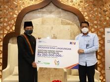 KAI Berikan Bantuan untuk Masjid Istiqlal Senilai Rp250 Juta