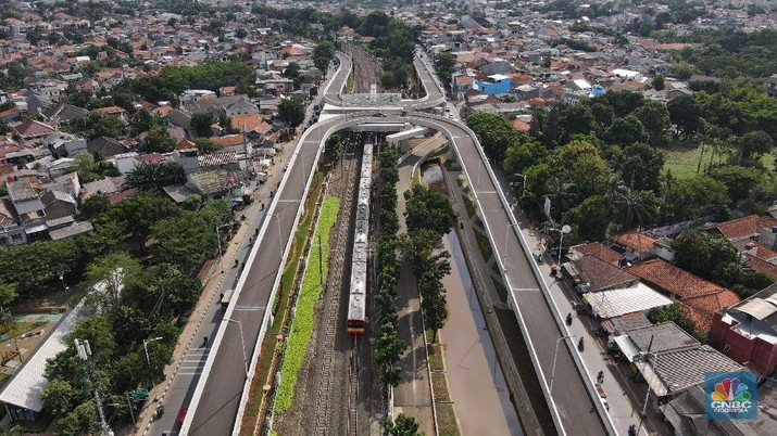 Fly Over Tapal Kuda Lentang Agung (CNBC Indonesia/Andrean Kristianto)