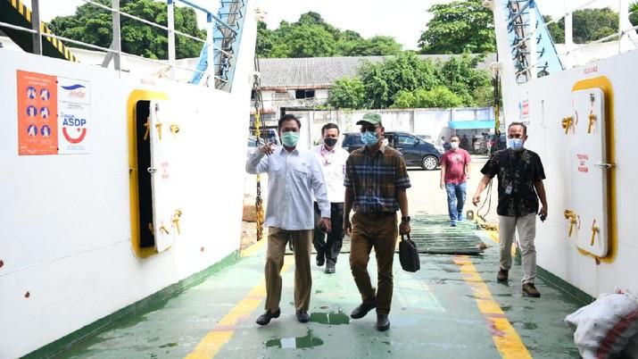 Kunjungan kerja ke PT. ASDP (Persero) Sorong,  Kepala BPH Migas Dorong Penggunaan LNG untuk Kapal. (Dok.Ist)