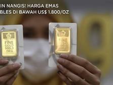 Bikin Nangis! Harga Emas Ambles di Bawah US$ 1.800/Oz
