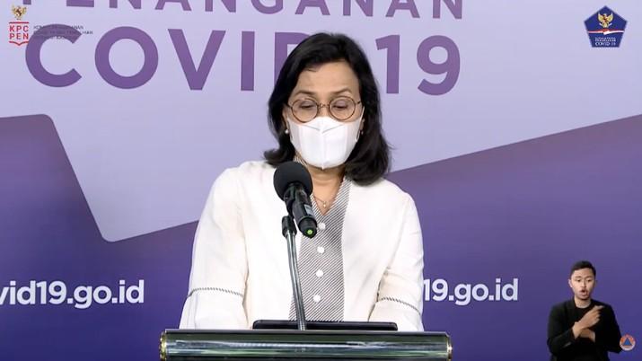 Menteri Keuangan Sri Mulyani (Tangkapan Layar BNPB Indonesia)