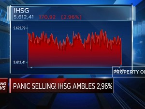 Panic Selling, IHSG Ditutup Ambles 2,96%